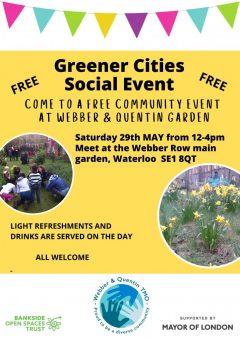 Greener Cities Social W&Q